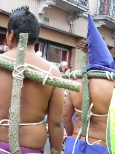 Some penitents strap cactus to their backs. photo © Lorraine Caputo